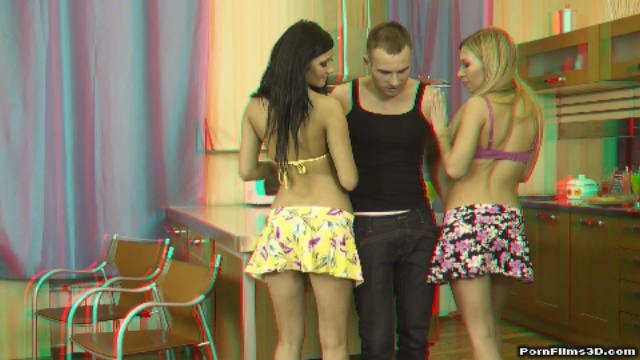 Special birthday orgy in real 3D XXX
