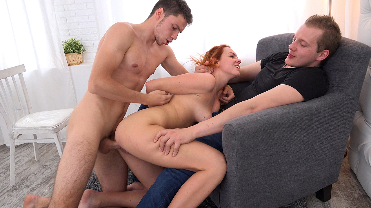 Candy Red - Fucked on her boyfriend's lap