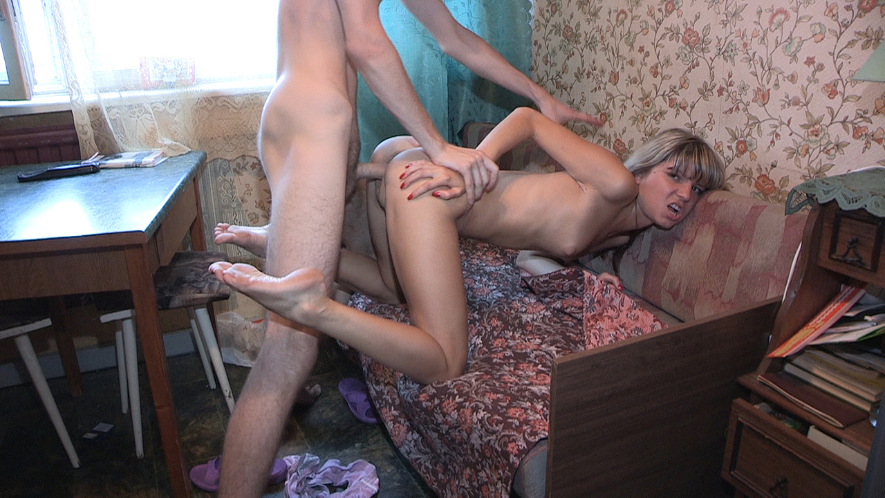 Teeny fucked on a dinner table
