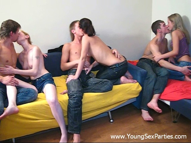 Young Sex Parties group sex video