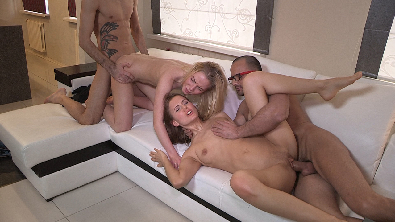 Angela & Uliya - Sharing the fruit of group sex